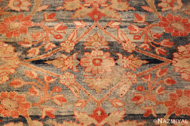 blue background antique sultanabad persian rug 49320 tiny Nazmiyal