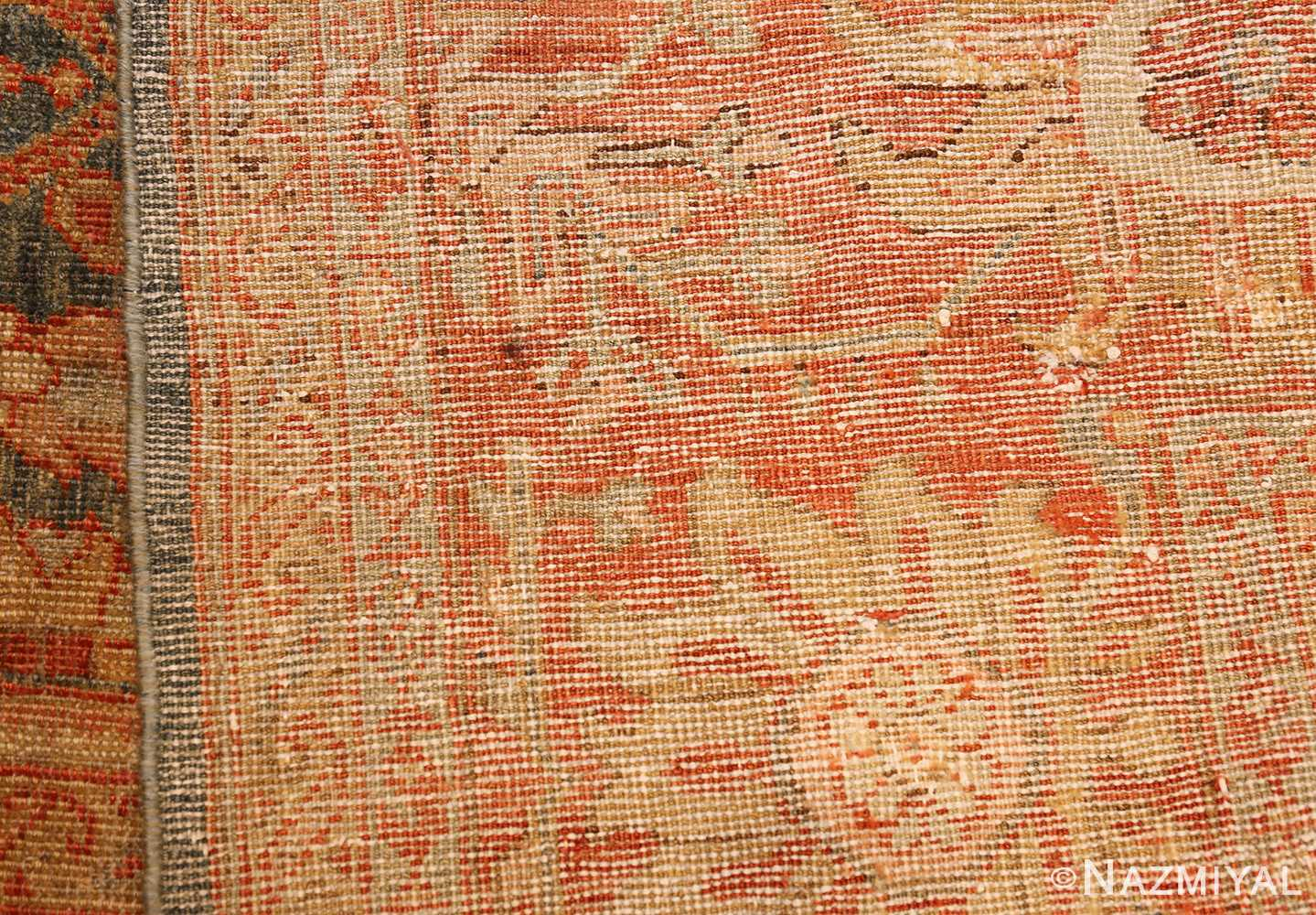 blue background antique sultanabad persian rug 49320 weave Nazmiyal