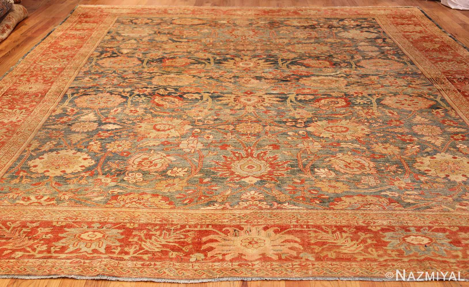 blue background antique sultanabad persian rug 49320 whole Nazmiyal