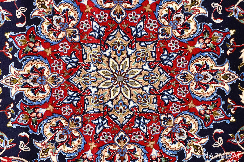 dark navy vintage isfahan persian rug 51141 center Nazmiyal