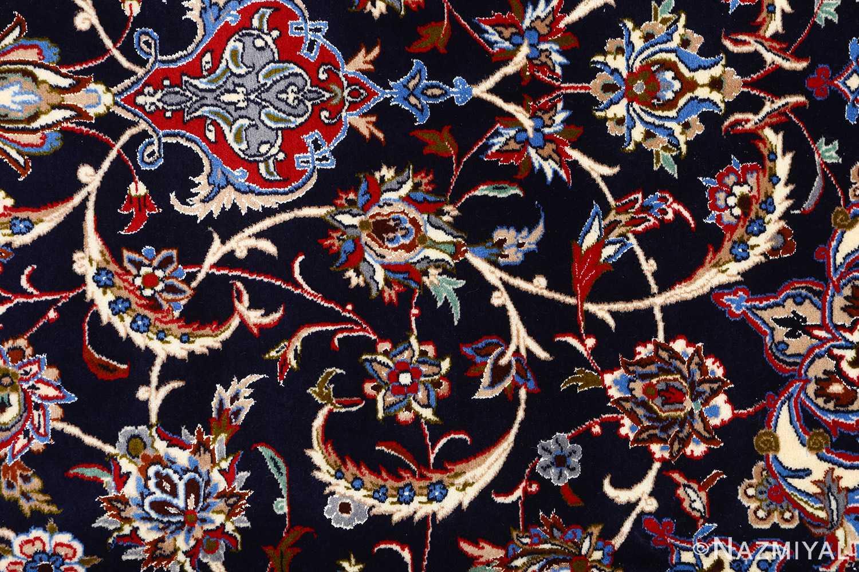 dark navy vintage isfahan persian rug 51141 field Nazmiyal