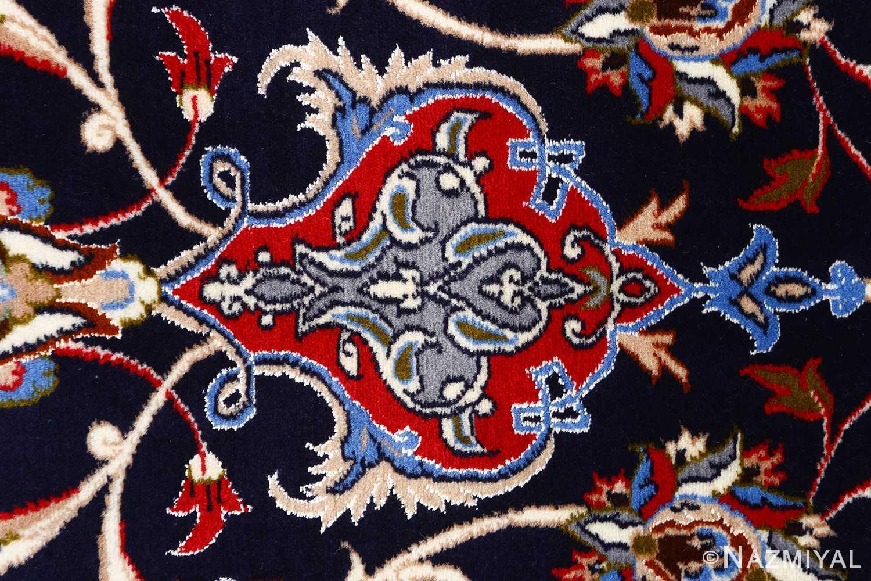 dark navy vintage isfahan persian rug 51141 tiara Nazmiyal