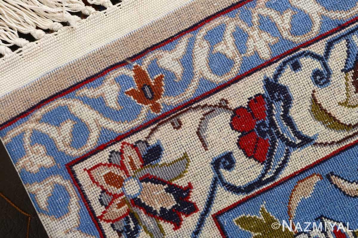 dark navy vintage isfahan persian rug 51141 weave Nazmiyal