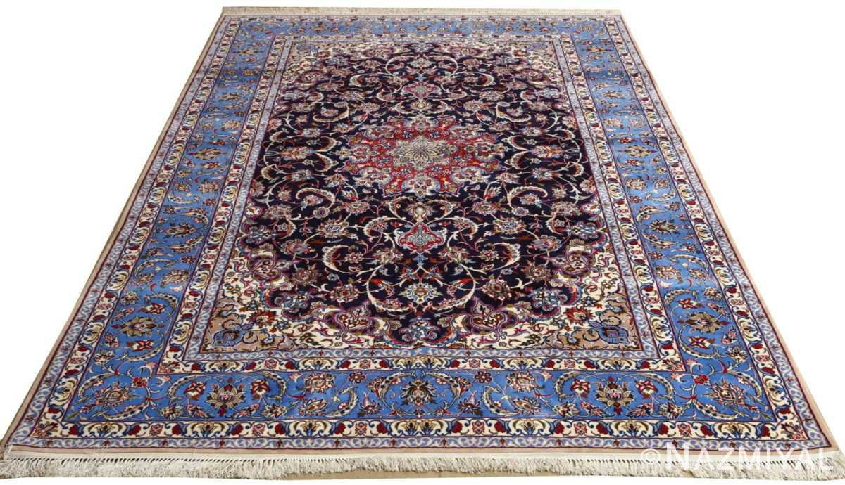 dark navy vintage isfahan persian rug 51141 whole Nazmiyal