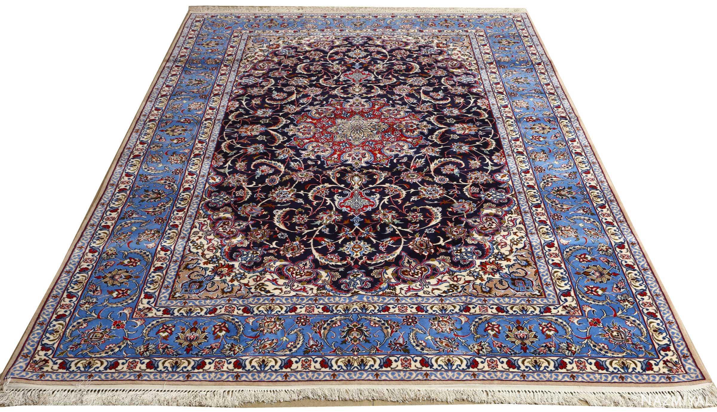 dark navy vintage isfahan persian rug 51141 whole Nazmiyal