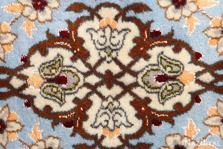 floral vintage isfahan persian rug 51152 blue Nazmiyal