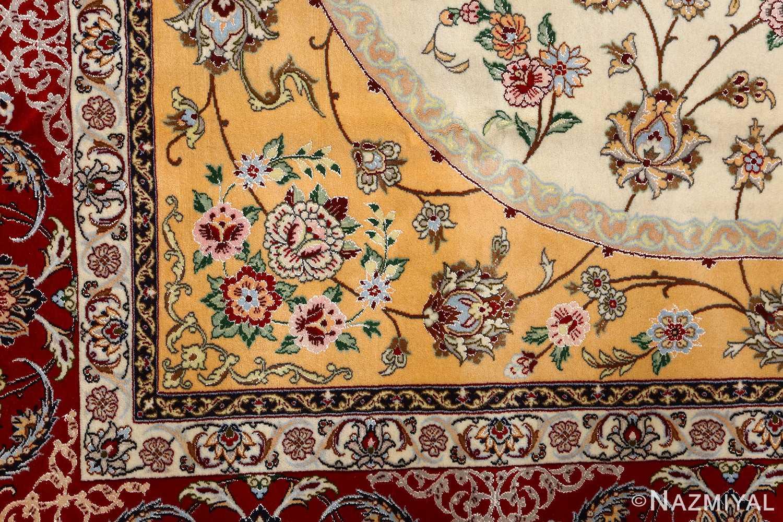 floral vintage isfahan persian rug 51152 design Nazmiyal