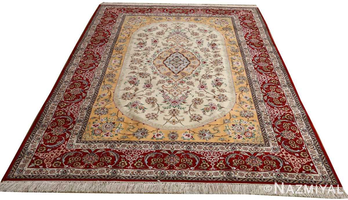 floral vintage isfahan persian rug 51152 full Nazmiyal