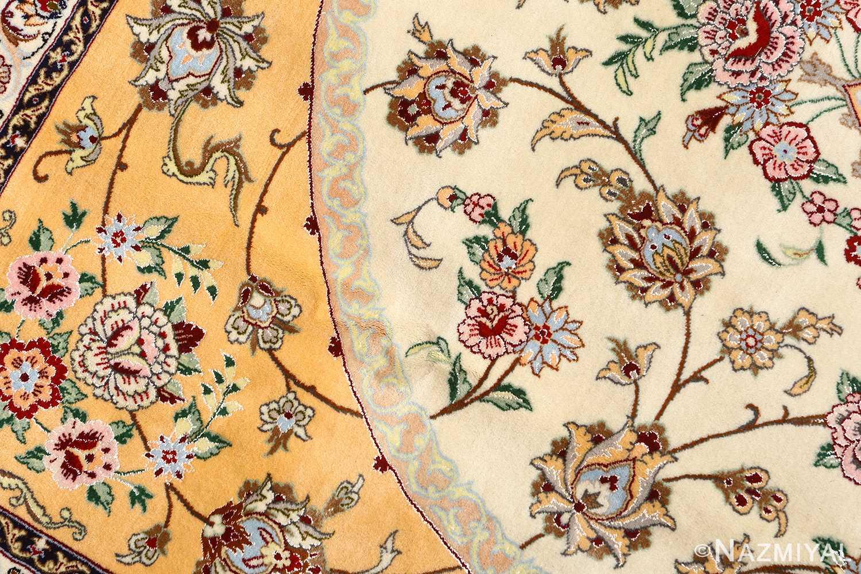 floral vintage isfahan persian rug 51152 golden Nazmiyal