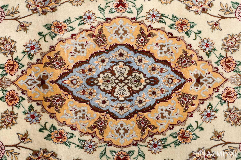 floral vintage isfahan persian rug 51152 medallion Nazmiyal