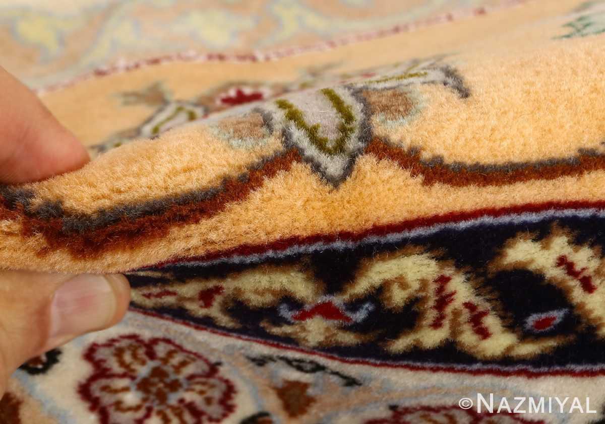 floral vintage isfahan persian rug 51152 pile Nazmiyal