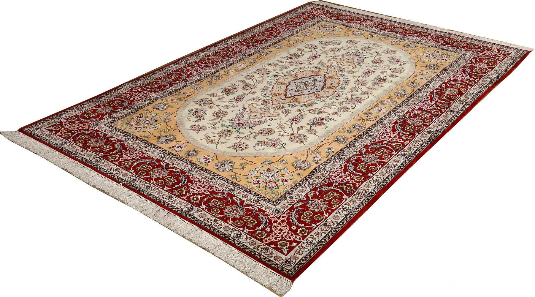 floral vintage isfahan persian rug 51152 side Nazmiyal