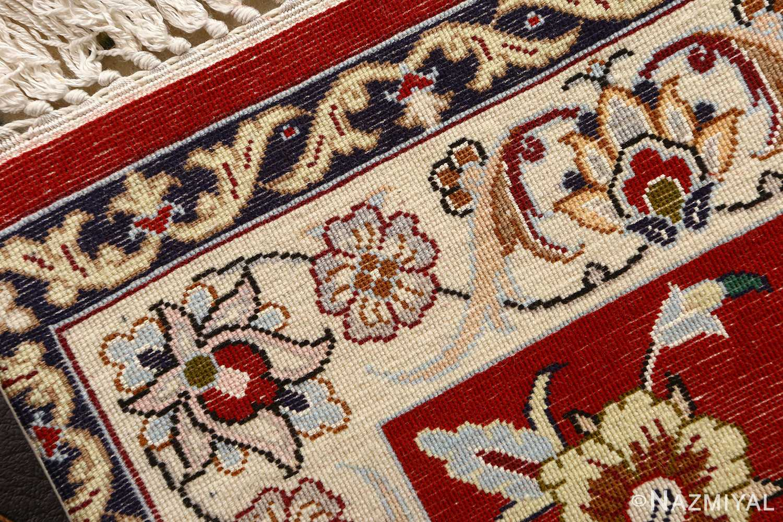 floral vintage isfahan persian rug 51152 weave Nazmiyal