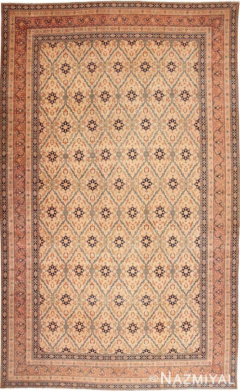 Full view oversized Antique Tabriz Persian rug 49297 by Nazmiyal