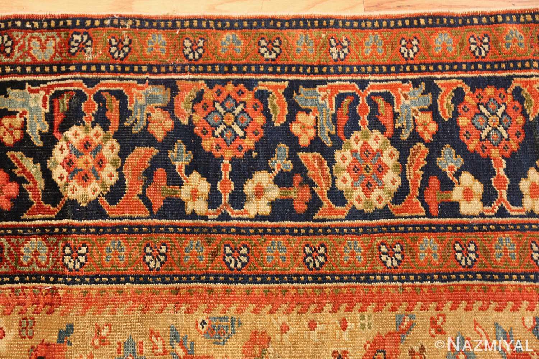 gold background antique sultanabad persian rug 49360 border Nazmiyal