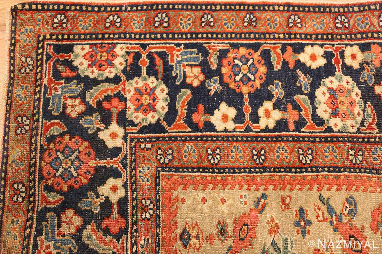 gold background antique sultanabad persian rug 49360 corner Nazmiyal