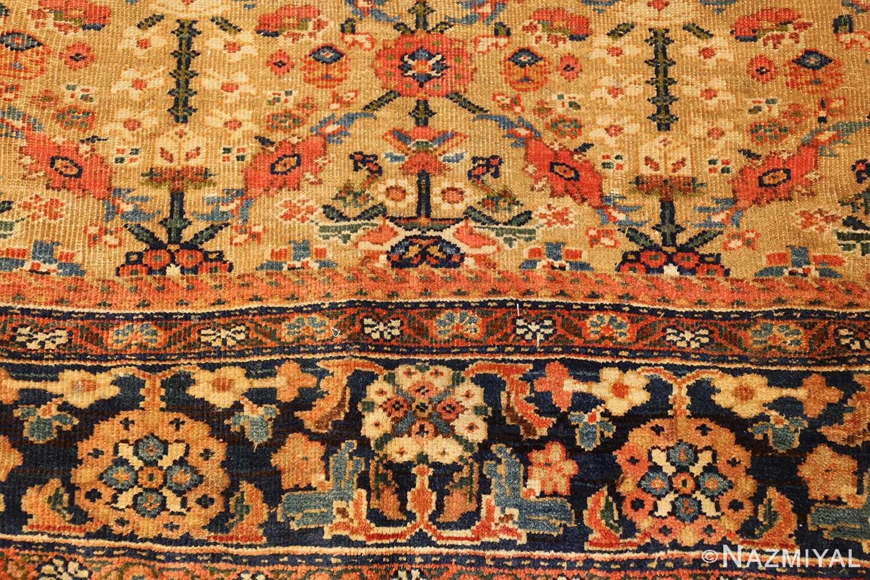 gold background antique sultanabad persian rug 49360 rose Nazmiyal