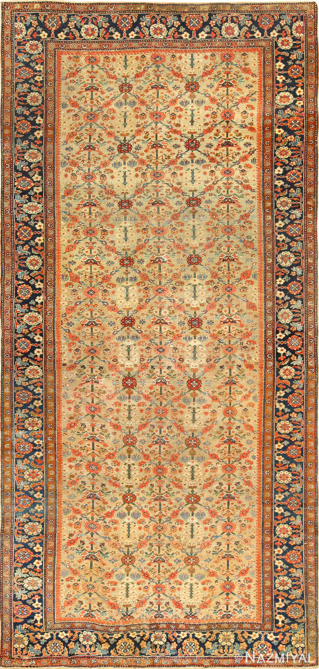 Yellow Antique Sultanabad Persian Rug