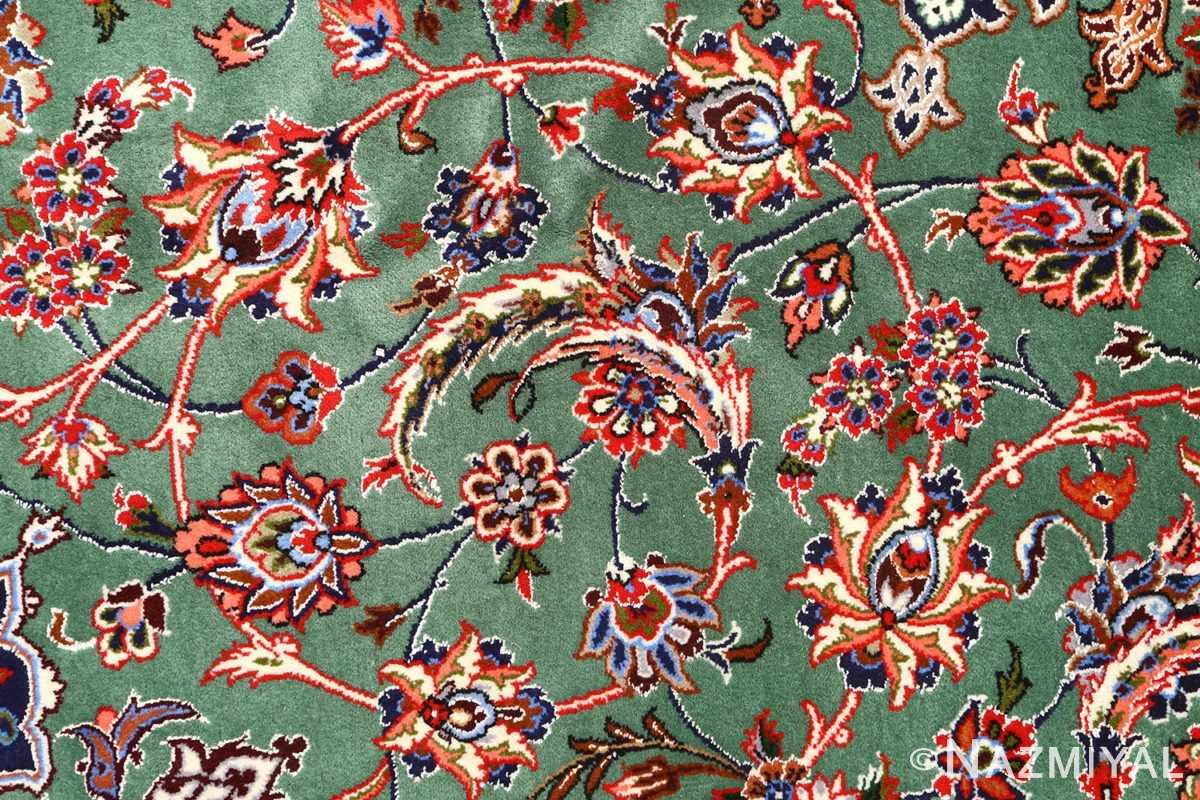 green background vintage isfahan persian rug 51153 field Nazmiyal