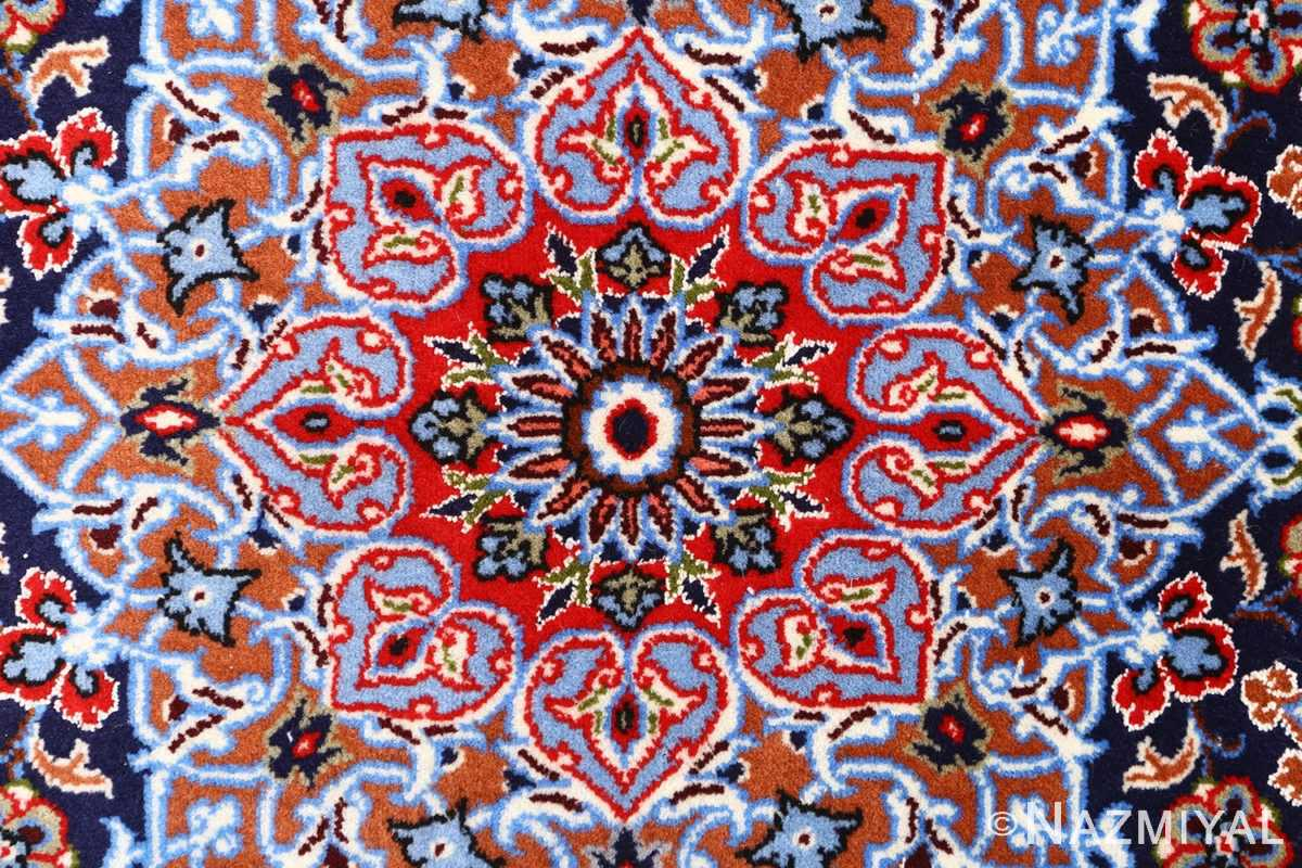 green background vintage isfahan persian rug 51153 middle Nazmiyal