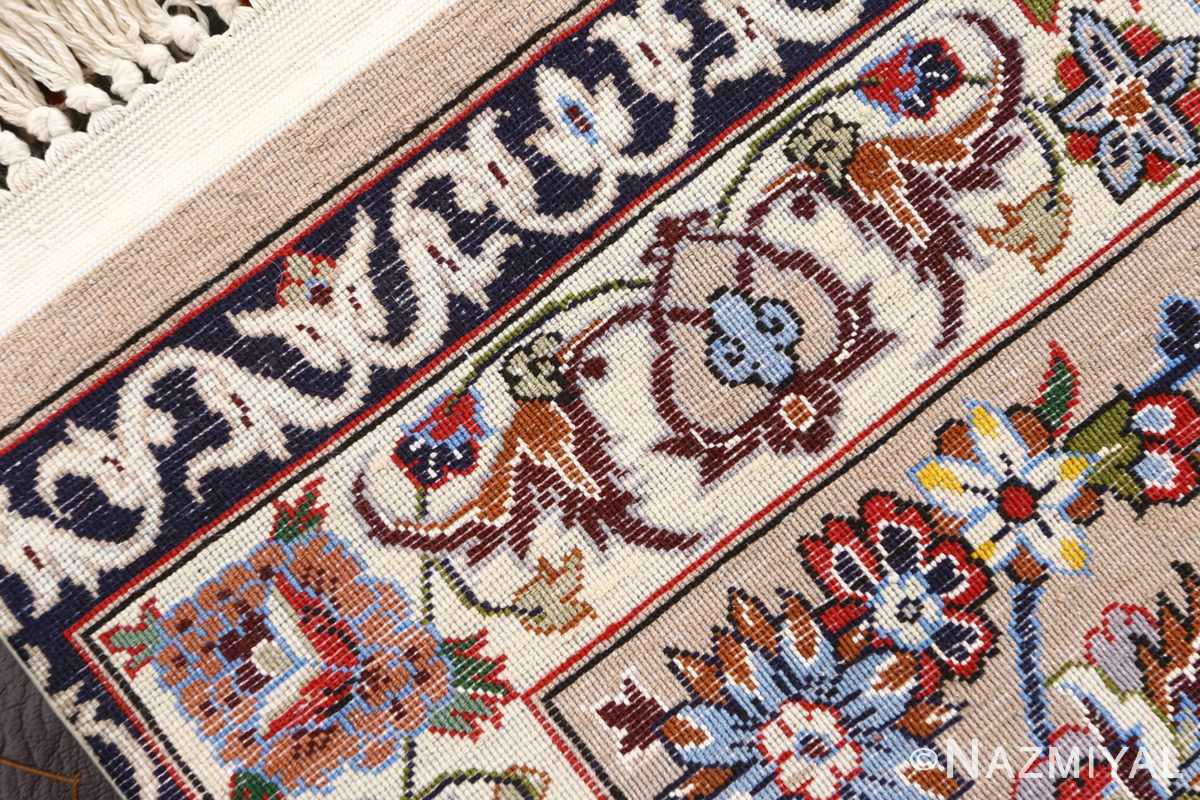 green background vintage isfahan persian rug 51153 weave Nazmiyal