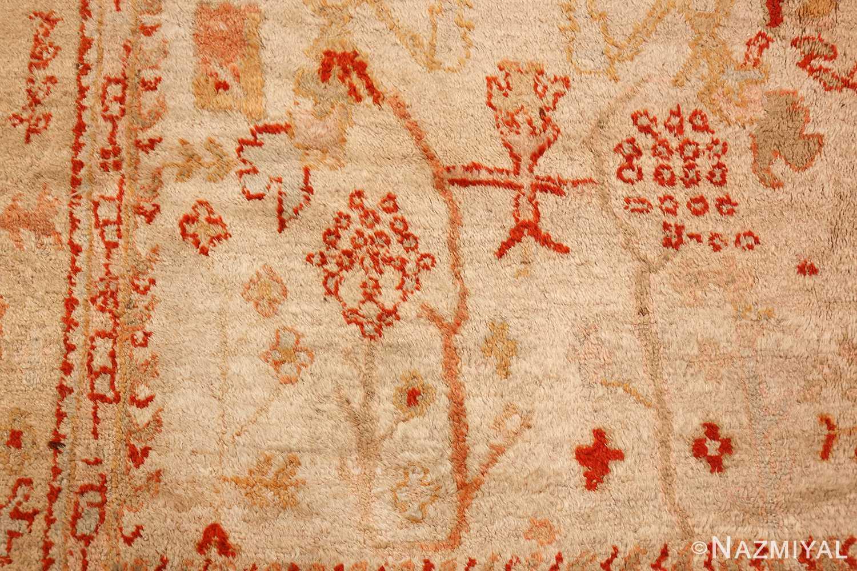 ivory antique oushak turkish rug 49323 boy Nazmiyal