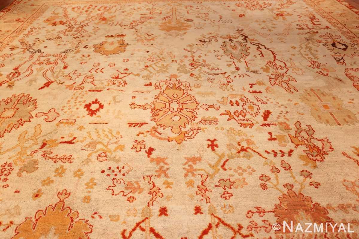 ivory antique oushak turkish rug 49323 full Nazmiyal