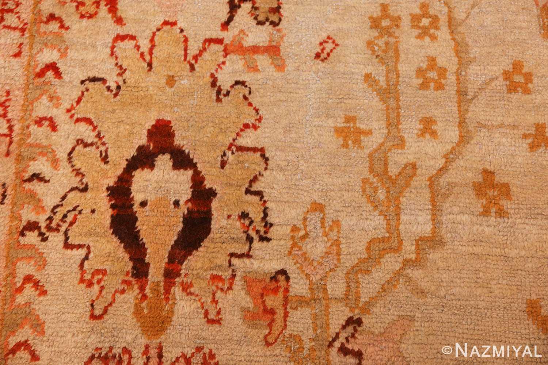 ivory antique oushak turkish rug 49323 red Nazmiyal