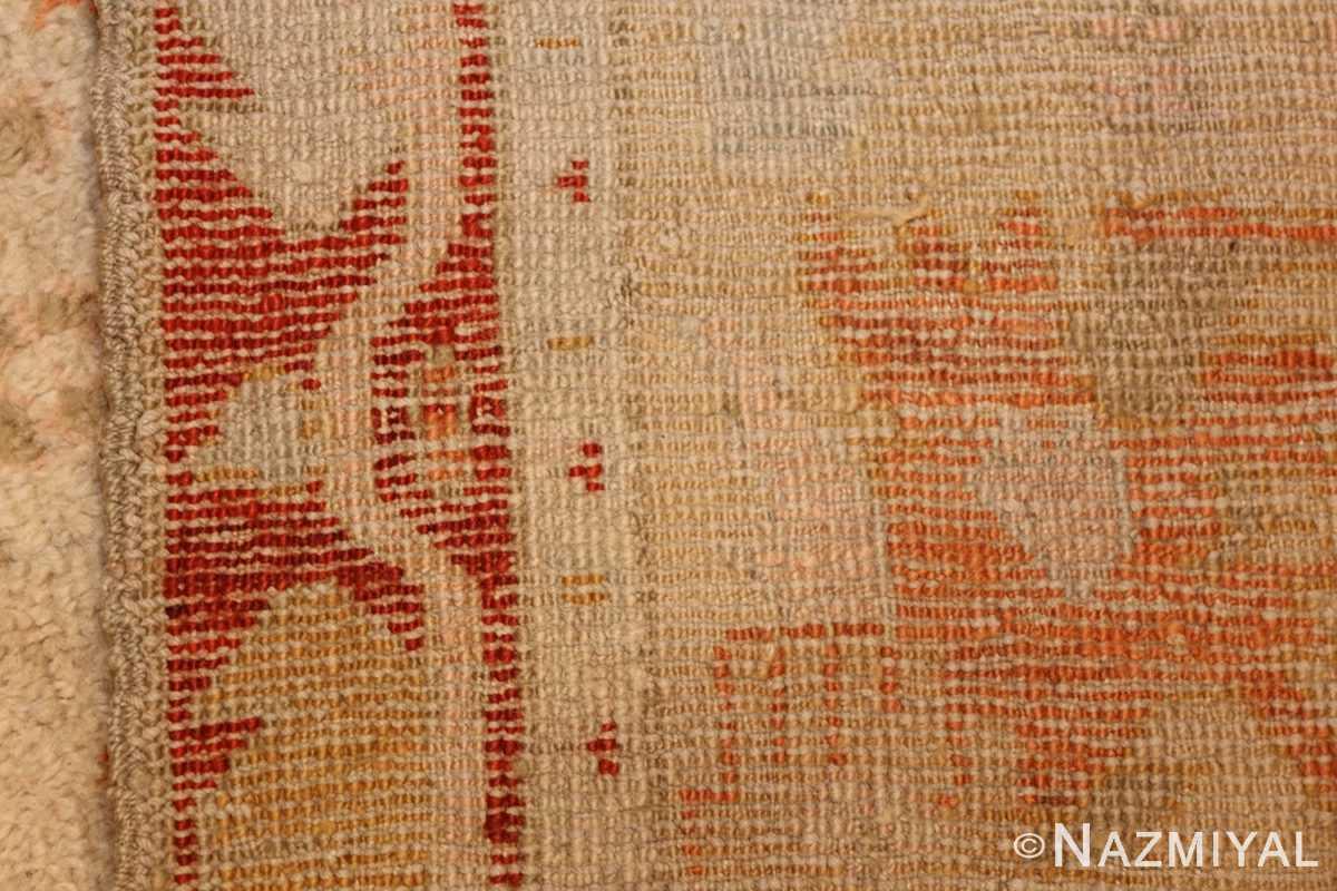 ivory antique oushak turkish rug 49323 weave Nazmiyal