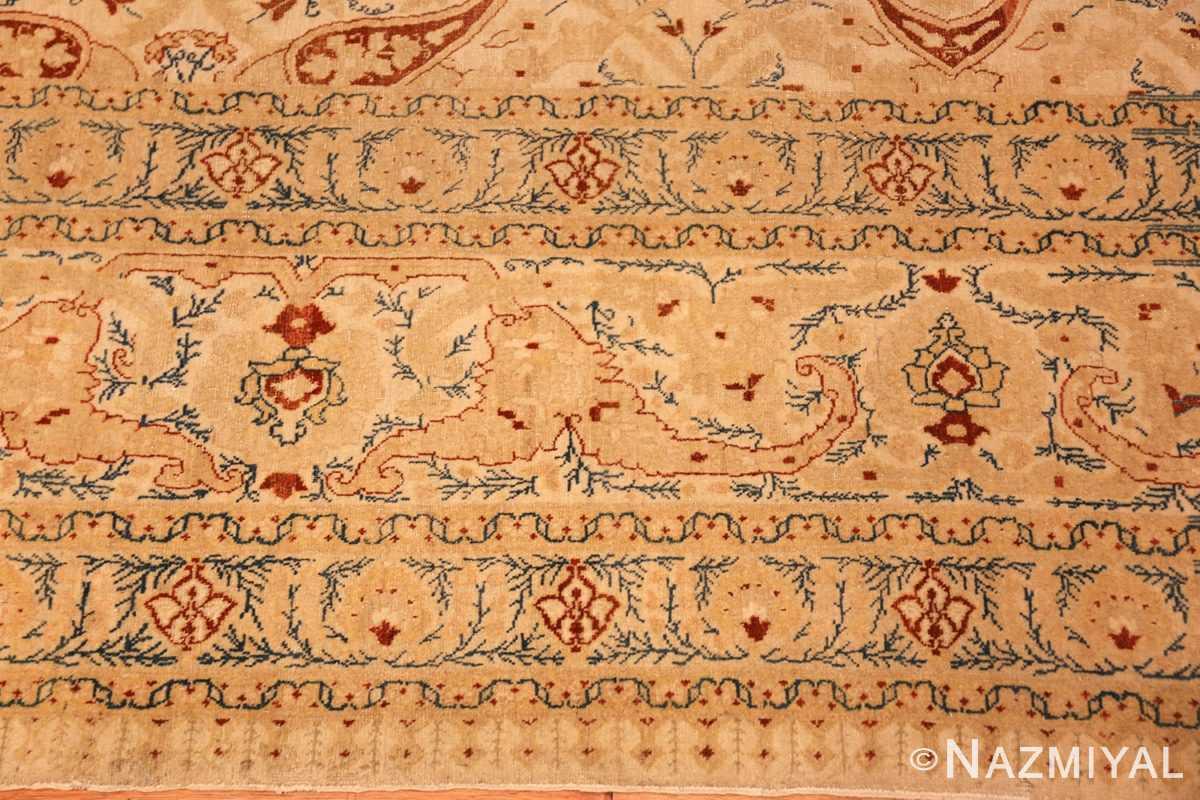 ivory background tabriz haji jalili rug 49347 border Nazmiyal