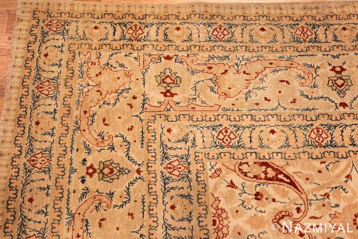 ivory background tabriz haji jalili rug 49347 corner Nazmiyal
