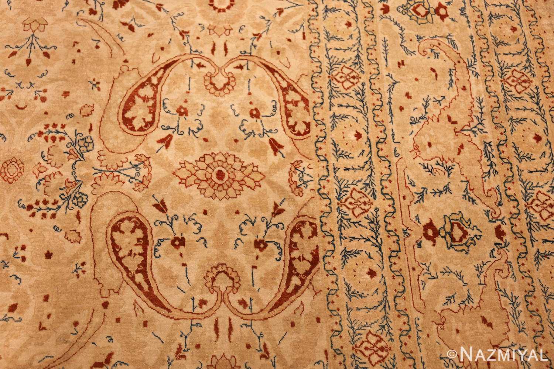 ivory background tabriz haji jalili rug 49347 design Nazmiyal