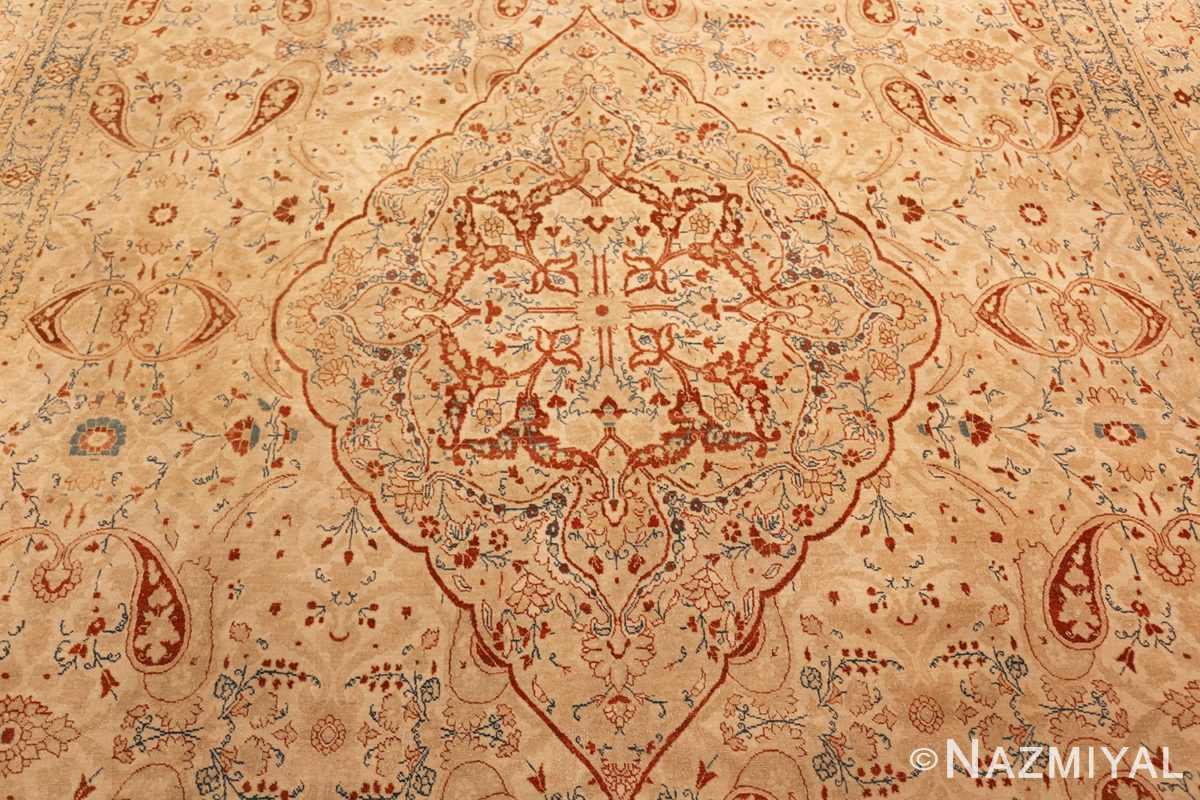 ivory background tabriz haji jalili rug 49347 field Nazmiyal