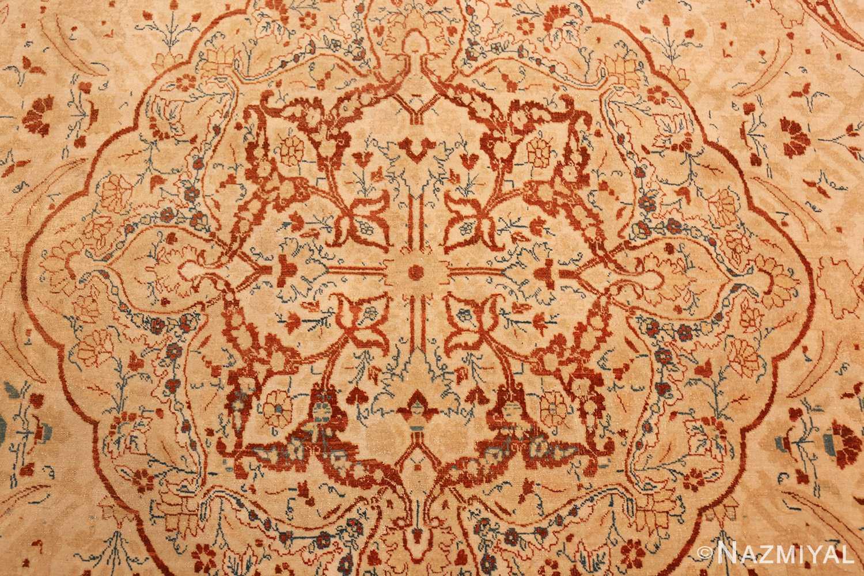 ivory background tabriz haji jalili rug 49347 medallion Nazmiyal