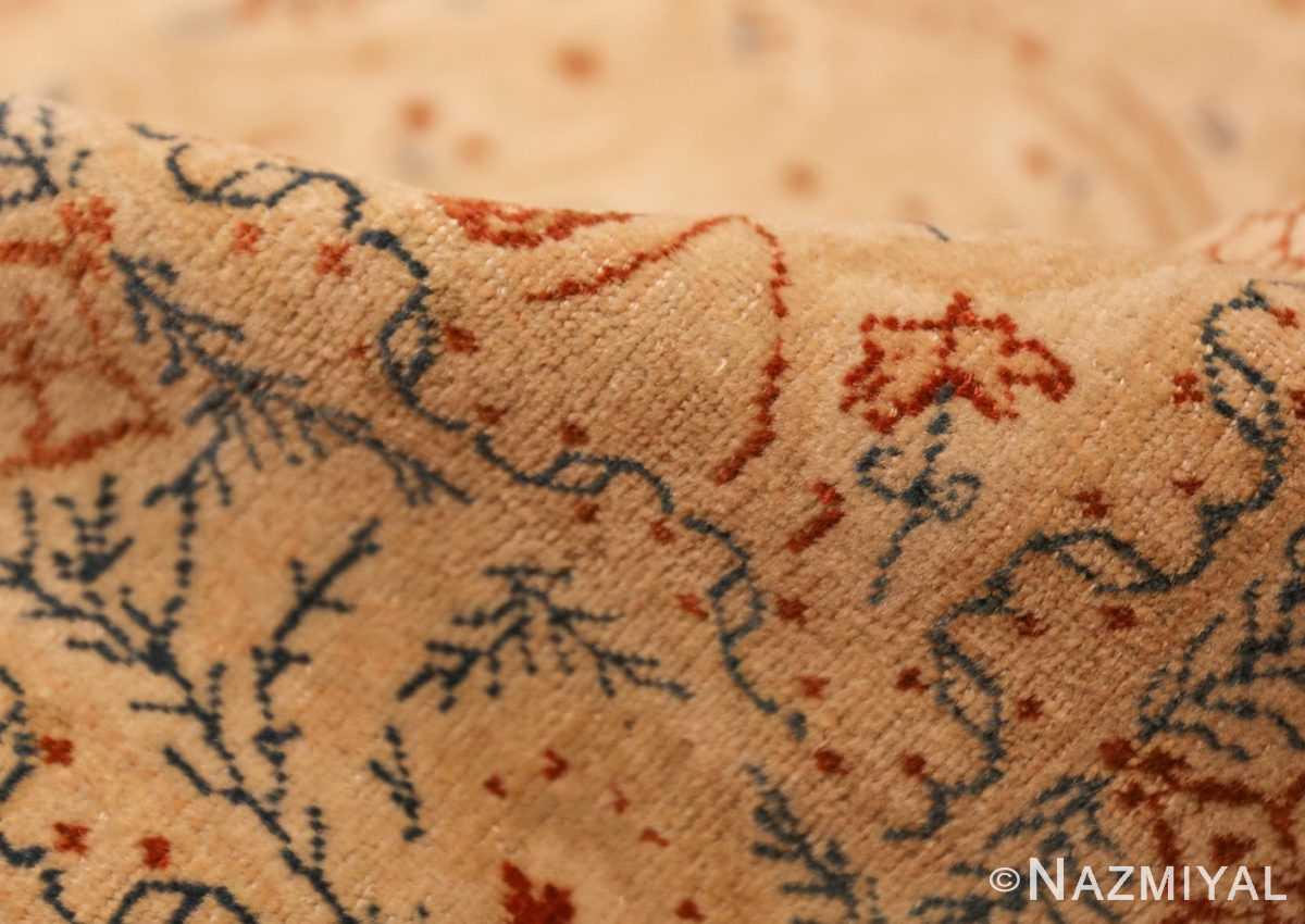 ivory background tabriz haji jalili rug 49347 pile Nazmiyal
