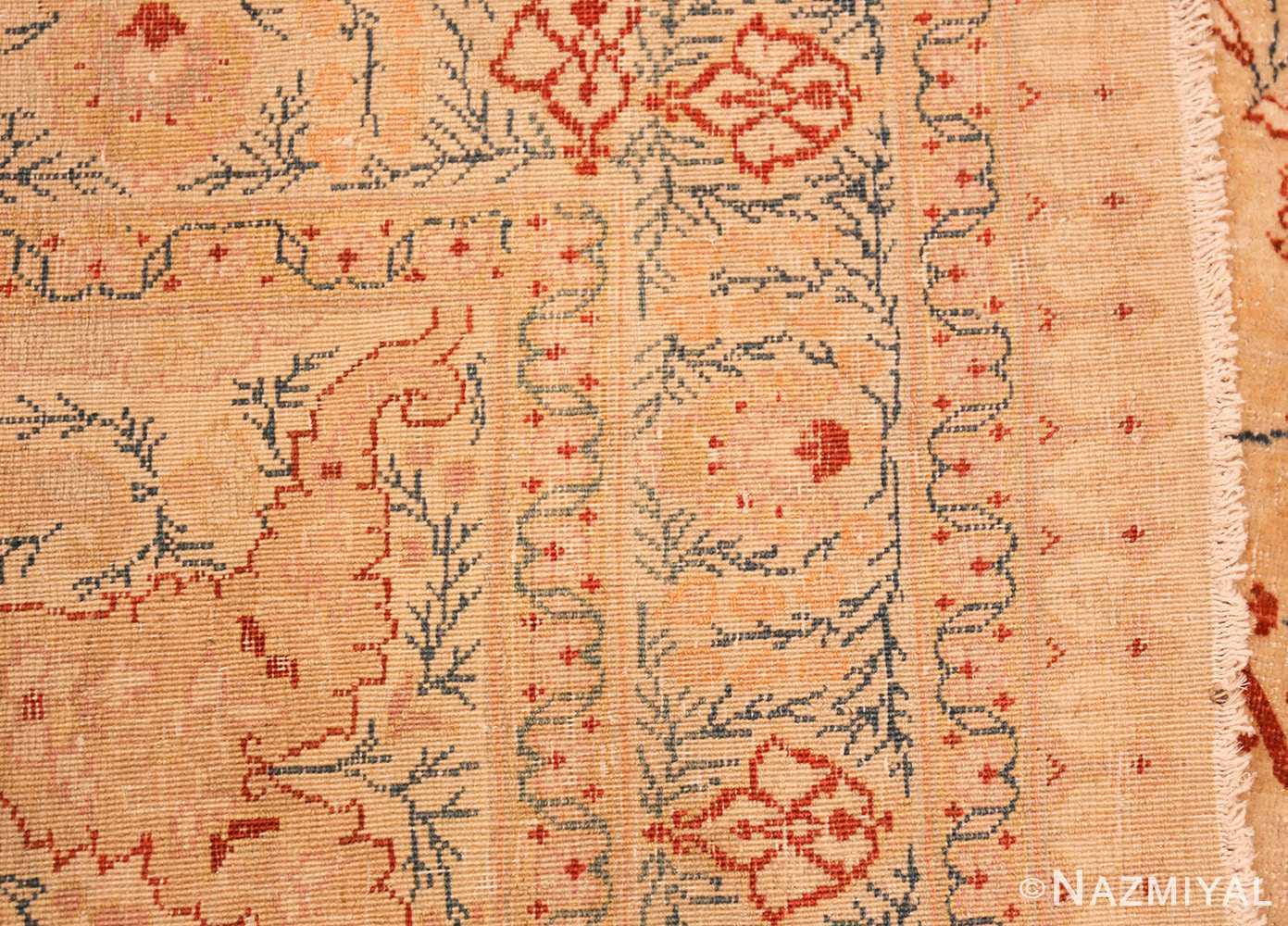 ivory background tabriz haji jalili rug 49347 weave Nazmiyal
