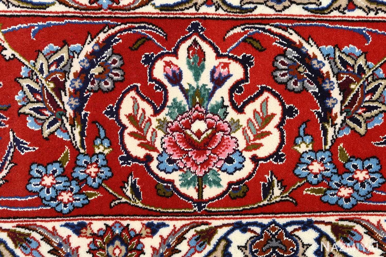 ivory background vintage isfahan persian rug 51161 border Nazmiyal
