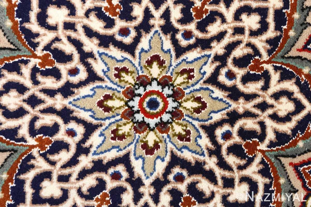 ivory background vintage isfahan persian rug 51161 center Nazmiyal