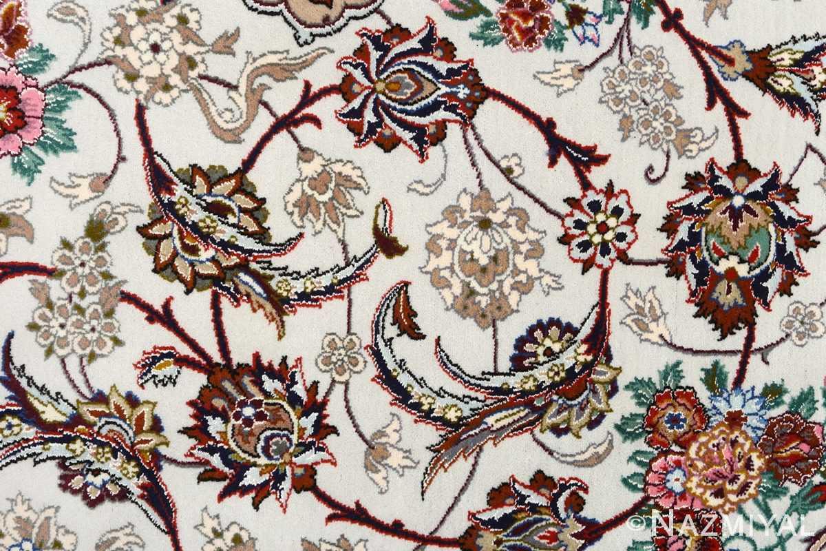 ivory background vintage isfahan persian rug 51161 field Nazmiyal