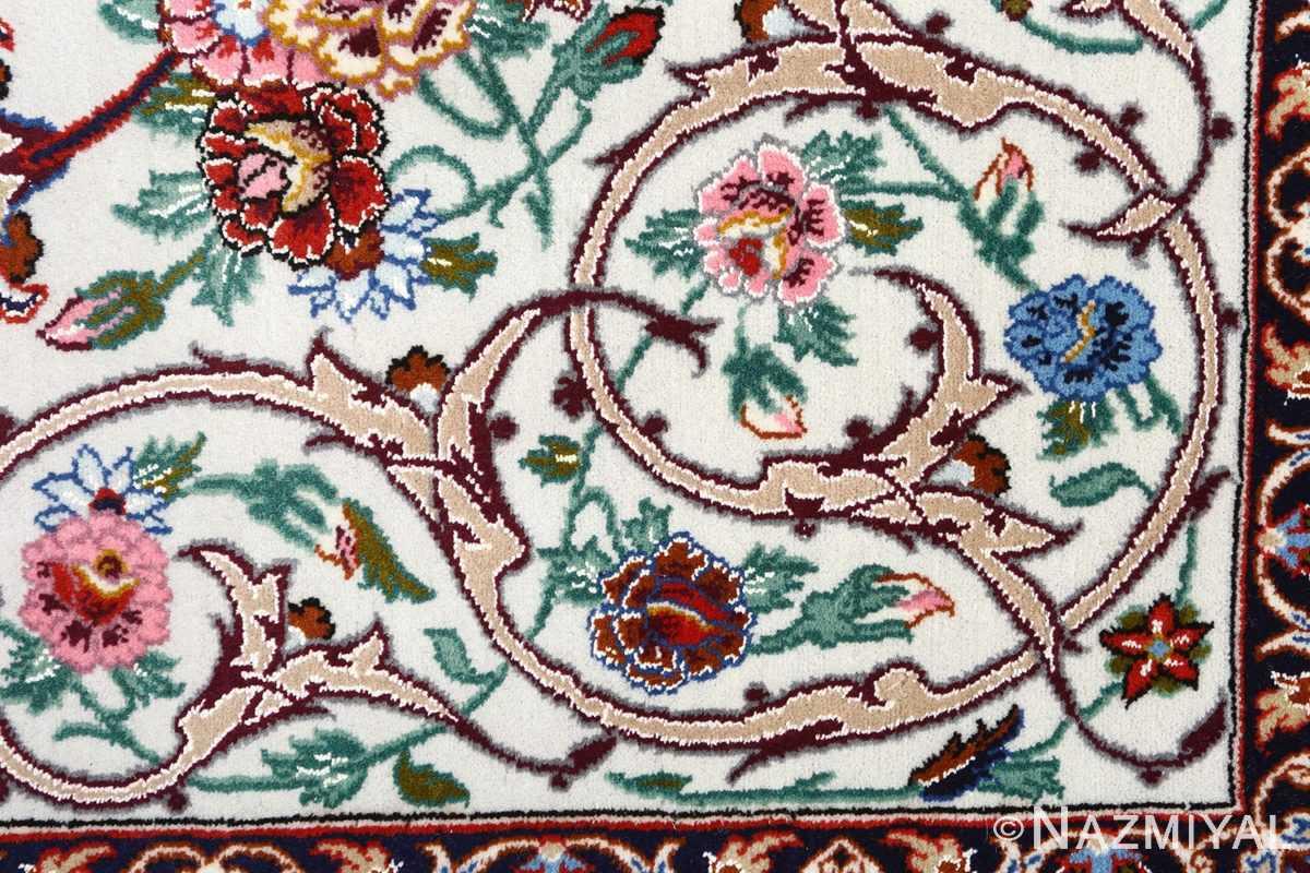 ivory background vintage isfahan persian rug 51161 scrolls Nazmiyal