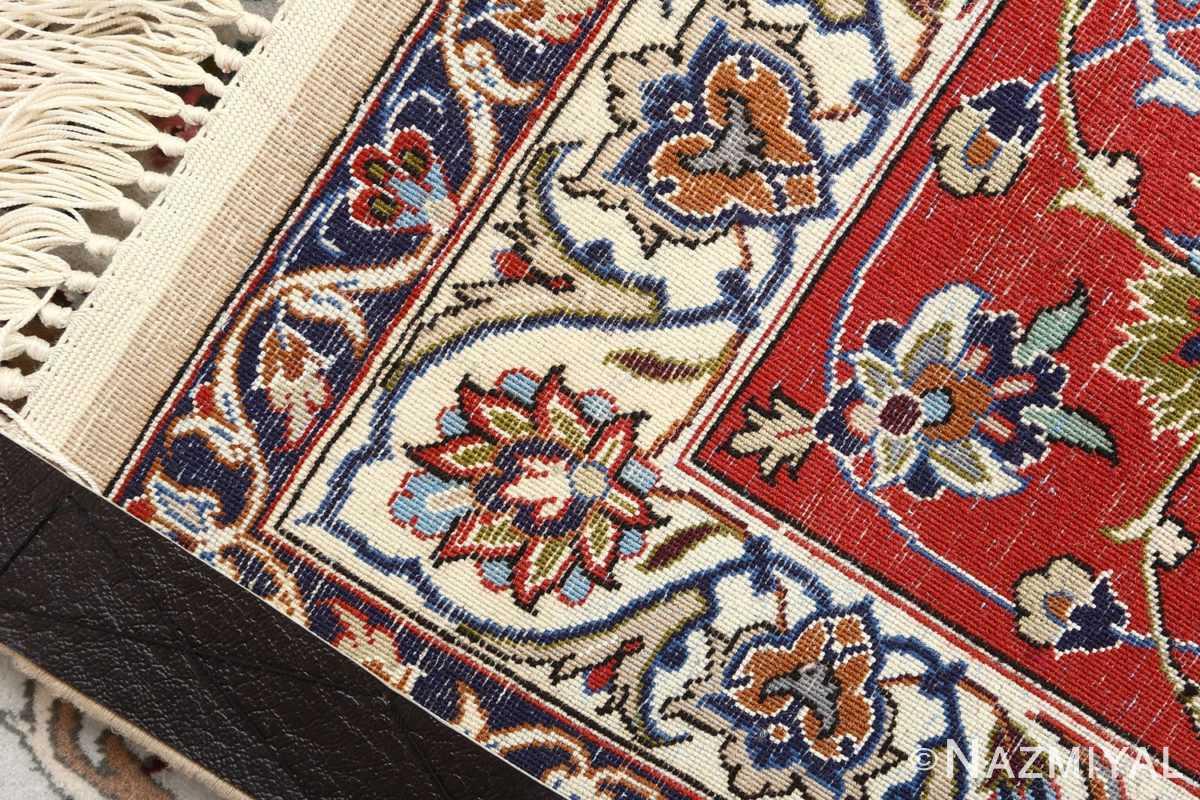 ivory background vintage isfahan persian rug 51161 weave Nazmiyal