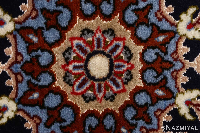 ivory floral vintage isfahan persian rug 51150 middle Nazmiyal