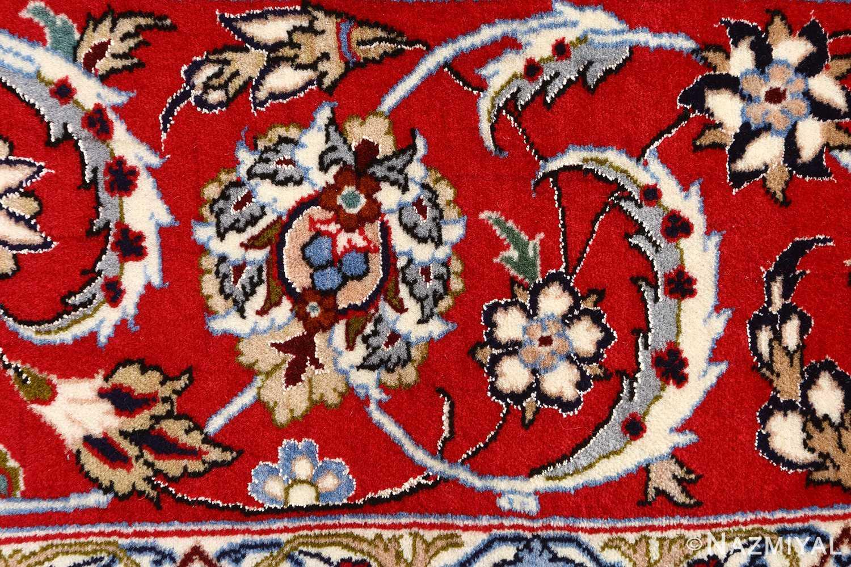 ivory floral vintage isfahan persian rug 51150 red Nazmiyal