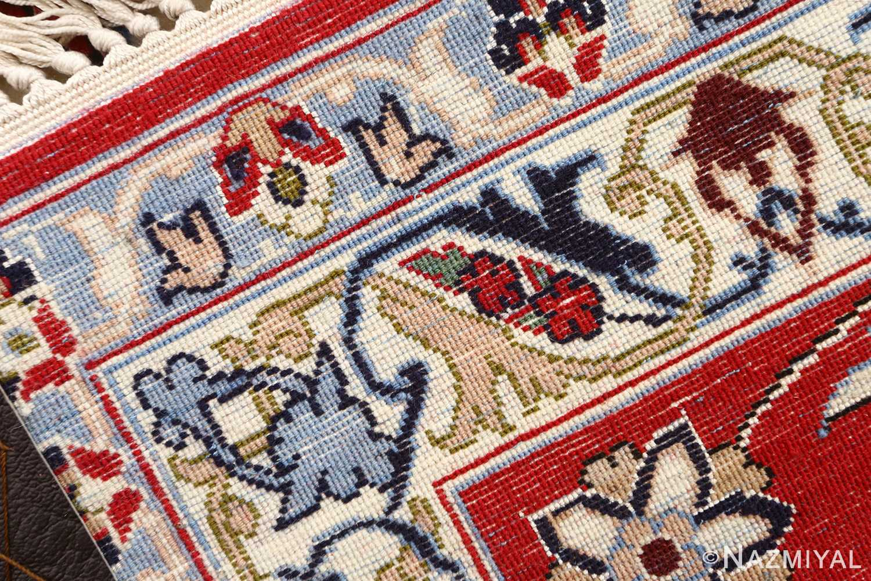 ivory floral vintage isfahan persian rug 51150 weave Nazmiyal
