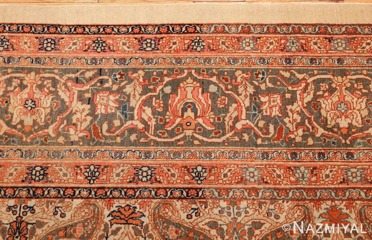 ivory haji jalili tabriz persian rug 49346 border Nazmiyal