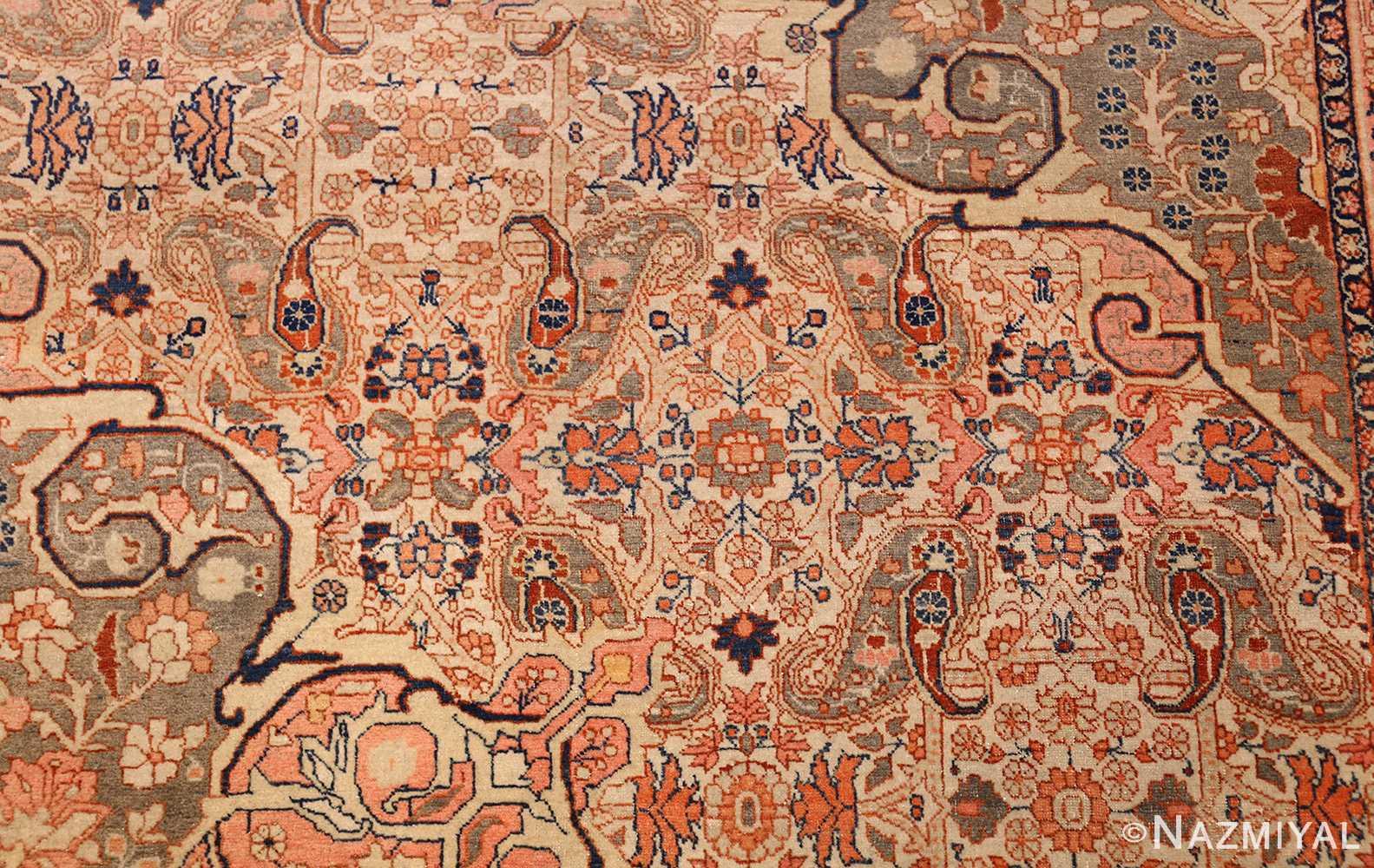 ivory haji jalili tabriz persian rug 49346 field Nazmiyal