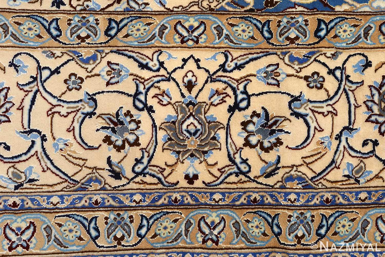 ivory vintage nain persian rug 51144 border Nazmiyal