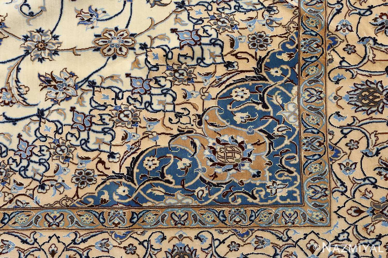 ivory vintage nain persian rug 51144 design Nazmiyal