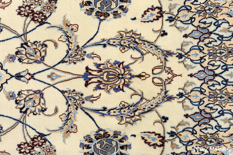 ivory vintage nain persian rug 51144 field Nazmiyal