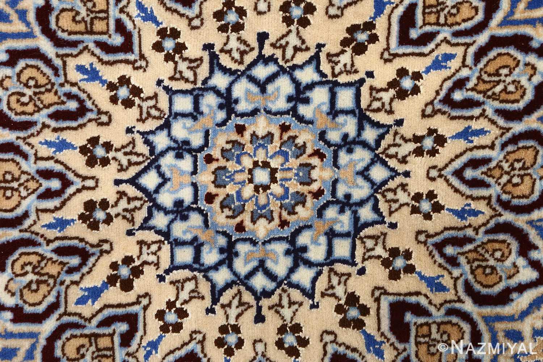 ivory vintage nain persian rug 51144 middle Nazmiyal